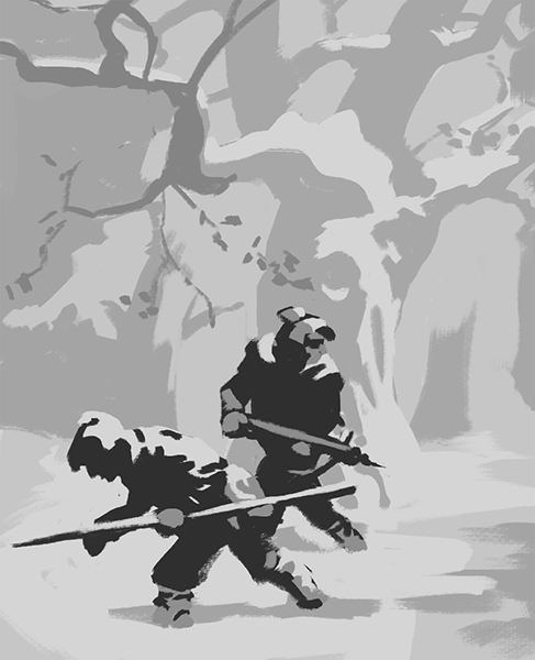 Composition study of a painting by NC Wyeth