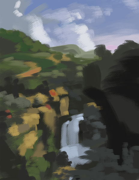 Color study of a painting by Thomas Cole