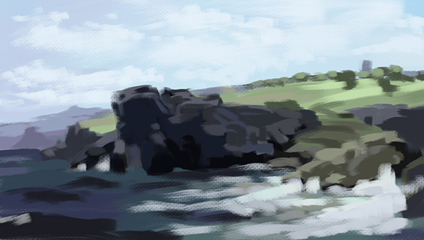 Color study of a painting by William Trost Richards