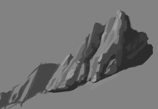 Grayscale study of a group of rocks
