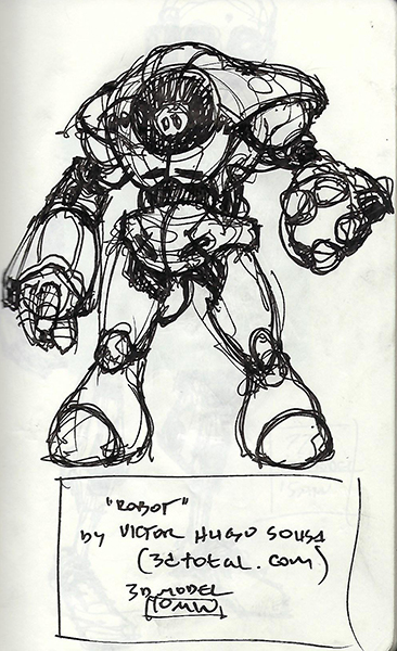 """Quick sketch of """"Robot"""" by Victor Hugo Sousa."""